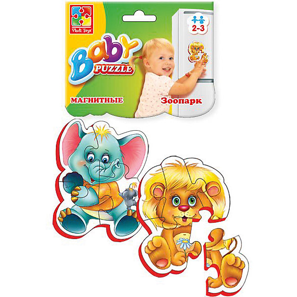 Vladi Toys Мягкие магнитные Baby puzzle Зоопарк cognitive letter puzzle baby toys wooden 3d metal puzzle educational recognize 26 letters colorful card to help baby study
