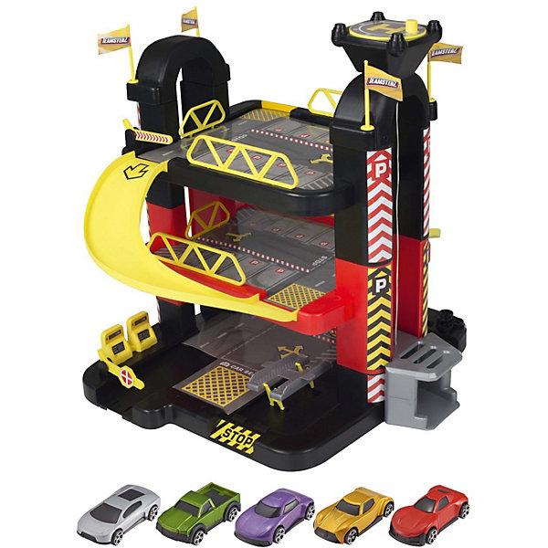 HTI Трёхуровневый гараж HTI Teamsterz, 5 машинок недорого