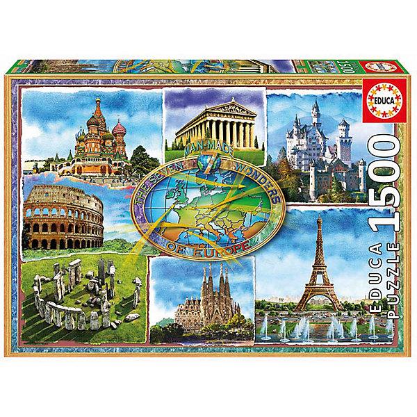 цена на Educa Пазл Educa 1500 деталей Семь чудес Европы