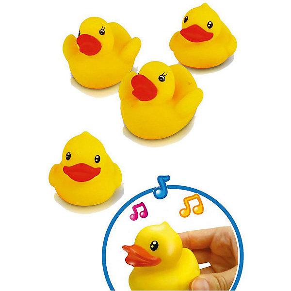 Игрушка для ванной Bebelino УточкиИгрушки для ванной<br>Характеристики товара:<br><br>• возраст: от 9 месяцев;<br>• пол: для мальчиков и девочек;<br>• комплект: 4 уточки;<br>• из чего сделана игрушка (состав): резина;<br>• размер упаковки: 16,5х6х19 см.;<br>• вес: 98 гр.;<br>• упаковка: сетка;<br>• страна обладатель бренда: Великобритания.<br><br>Набор из 4 резиновых игрушек для ванны «Уточки» от производителя Bebelino поможет ребятам весело проводить время во время купания. <br><br>Яркие утки станут настоящими друзьями для ребенка. <br><br>Игрушка является пищалкой, поэтому если как следует сжать утку, она начнет издавать звуки. <br><br>Резиновые игрушки можно использовать в воде, они безопасны для детей.<br><br>Игрушку для ванной «Уточки» можно купить в нашем интернет-магазине.<br>Ширина мм: 165; Глубина мм: 60; Высота мм: 190; Вес г: 98; Цвет: разноцветный; Возраст от месяцев: 9; Возраст до месяцев: 2147483647; Пол: Унисекс; Возраст: Детский; SKU: 7753464;
