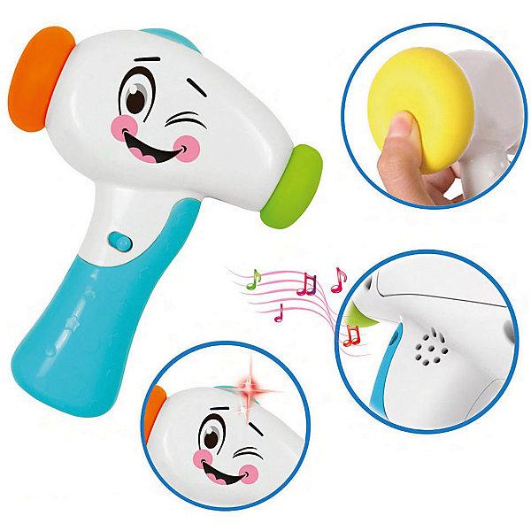Молоточек Bebelino Изучай ЗвукиИнтерактивные игрушки для малышей<br>Характеристики товара:<br><br>• возраст: от 12 месяцев;<br>• пол: для мальчиков и девочек;<br>• наличие батареек: входят в комплект;<br>• тип батареек: 2хАА/LR6 1,5V (пальчиковые);<br>• из чего сделана игрушка (состав): пластик;<br>• размер упаковки: 16,5х20,5х6 см.;<br>• вес: 245 гр.;<br>• упаковка: картонная коробка открытого типа;<br>• страна обладатель бренда: Великобритания.<br><br>Молоточек «Изучай звуки» от бренда Bebelino станет для малыша отличным развлечением.<br><br>Игрушка выполнена в виде удобного молоточка с мягким наконечником и удобной ручкой, при ударе воспроизводящего забавные звуки, а также дополненного световыми эффектами. <br><br>Ребенку не будет скучно в любом месте и благодаря оптимальному размеру игрушку можно брать  с собой.<br><br>Развивающий молоточек сделан из прочного нетоксичного пластика.<br><br>Молоточек «Изучай звуки» можно купить в нашем интернет-магазине.<br>Ширина мм: 165; Глубина мм: 60; Высота мм: 205; Вес г: 245; Цвет: разноцветный; Возраст от месяцев: 12; Возраст до месяцев: 2147483647; Пол: Унисекс; Возраст: Детский; SKU: 7753496;