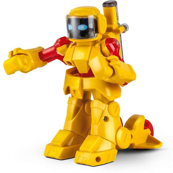 Робот Mioshi  и/к  Боевой робот: участник ,7,5x6,2x9 см, желтыйРоботы<br>Характеристики:<br><br>• возраст: от 6 лет;<br>• материал: пластмасса;<br>• цвет: желтый;<br>• в наборе: робот, пульт управления, инструкция;<br>• тип батарейки: 4хАА;<br>• вес: 406 гр.;<br>• размер упаковки: 19х9х19 см;<br>• страна бренда: Китай.<br><br>Робот с инфракрасным управлением Mioshi «Боевой робот: участник» умеет повторять движения рук игрока, который управляет пультом. Этот робот отлично дерется, поэтому можно устраивать схватки между двумя или тремя такими игрушками. Бой получится незабываемый!<br><br>У робота детализированный корпус, подвижные руки, в ноги встроены колесики. Имеются звуковые эффекты. Игрушка выполнена из качественных безопасных материалов, устойчива к механическому воздействию.<br><br>Робота Mioshi и/к «Боевой робот: участник», 7,5х6,2х9 см, желтый можно купить в нашем интернет-магазине.<br>Ширина мм: 19; Глубина мм: 9; Высота мм: 19; Вес г: 406; Цвет: желтый; Возраст от месяцев: 36; Возраст до месяцев: 72; Пол: Унисекс; Возраст: Детский; SKU: 7753519;