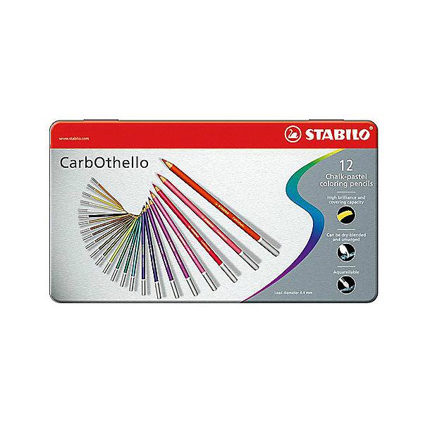 Фото - STABILO Набор цветных пастелей Stabilo Carbothello, 12 цв, металл stabilo набор цветных пастелей stabilo carbothello 24 цв металл