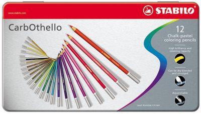 Набор цветных пастелей Stabilo Carbothello, 36 цв, металл, артикул:7754174 - Рисование и раскрашивание