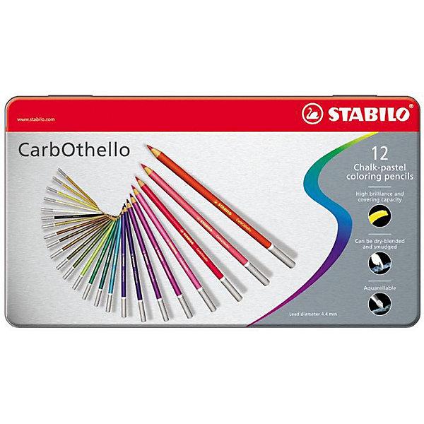 Набор цветных пастелей Stabilo Carbothello, 36 цв, металлКарандаши<br>Характеристики:<br><br>• возраст: от 3 лет<br>• в наборе: 36 пастельных карандашей<br>• количество цветов: 36<br>• форма карандаша: круглая<br>• диаметр грифеля: 4,4 мм.<br>• длина карандаша: 17,5 см.<br>• материал корпуса: древесина<br>• упаковка: металлическая коробка<br>• размер упаковки: 20х33,5х3 см.<br>• вес: 606 гр.<br><br>Цветная пастель Stabilo Carbothello, в виде деревянных карандашей, идеально подходит как для художников, так и для любительского использования.<br><br>Деревянная оболочка карандаша защищает хрупкую сердцевину – пастельный мелок, способный передать бесподобную свежесть и выразительность красок. Цвета хорошо смешиваются, равномерно ложатся на поверхность, обладают хорошей покрывной способностью. Исключительная насыщенность цвета позволяет добиться великолепных результатов даже на темном фоне.<br><br>Мягкий грифель позволяет рисовать на очень тонкой бумаге. При необходимости для прорисовки тонких линий карандаши можно заточить.<br><br>Цветные пастельные карандаши можно использовать как акварельные карандаши. Для придания специальных эффектов допускается размывание водой.<br><br>Карандаши упакованы в удобную металлическую коробку.<br><br>Набор цветных пастелей Stabilo Carbothello, 36 цв, металл можно купить в нашем интернет-магазине.<br>Ширина мм: 335; Глубина мм: 30; Высота мм: 200; Вес г: 606; Возраст от месяцев: 36; Возраст до месяцев: 2147483647; Пол: Унисекс; Возраст: Детский; SKU: 7754174;