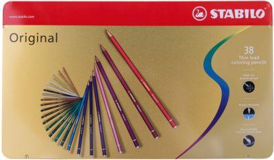 Набор цветных карандашей Stabilo original 38 цв, металл, артикул:7754178 - Рисование и раскрашивание