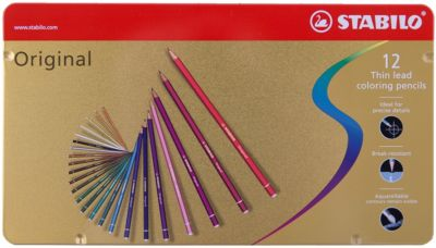 Набор цветных карандашей Stabilo original 12 цв, металл, артикул:7754192 - Рисование и раскрашивание