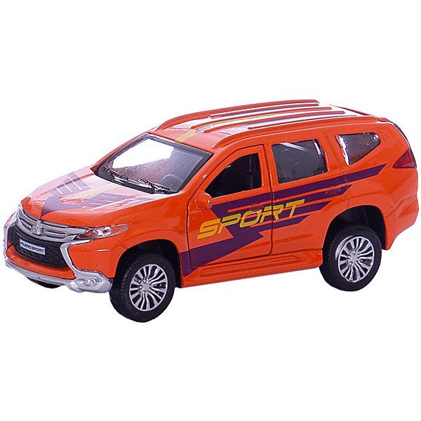 Машина Mitsubishi Pajero Sport 12см, металлическая, инерционная, открыв. двери.Машинки<br>Характеристики товара:<br><br>• возраст: от 3 лет;<br>• размер упаковки: 18x7x13 см.;<br>• вес: 170 гр.;<br>• размер машинки: 12 см.;<br>• из чего сделана игрушка (состав): пластик, металл;<br>• упаковка: картонная коробка.<br><br>Машина «Mitsubishi Pajero Sport» модель спортивного внедорожника, обаладющего встроенным инерционным механизмом.<br><br>Модель имеет открывающиеся двери и багажник. <br><br>Развивает фантазию и мелкую моторику. <br><br>Сделана из прочного высококачественного металла. <br><br>Машину «Mitsubishi Pajero Sport» можно куупить в нашем интернет-магазине.<br>Ширина мм: 180; Глубина мм: 70; Высота мм: 130; Вес г: 170; Цвет: красный; Возраст от месяцев: 36; Возраст до месяцев: 96; Пол: Мужской; Возраст: Детский; SKU: 7754698;