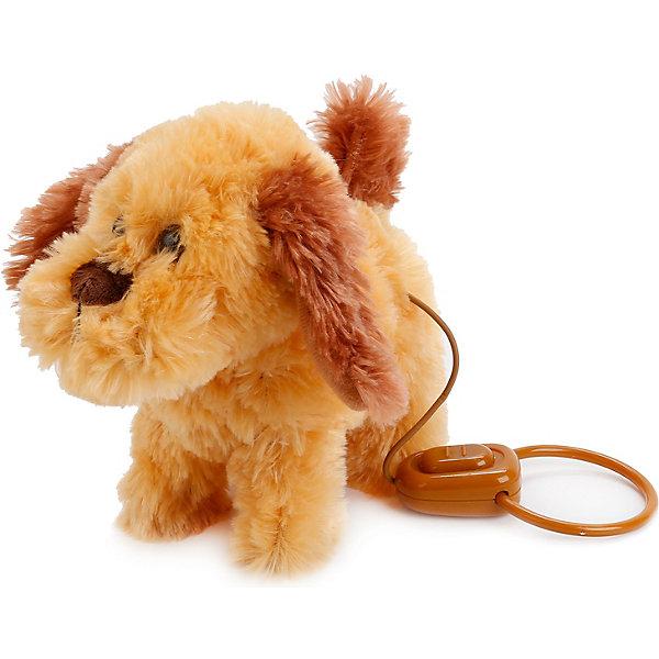 Купить Интерактивный щенок с 4-мя функц., пульт-поводок, ходит, с музыкой., Играем вместе, Китай, коричневый, Унисекс