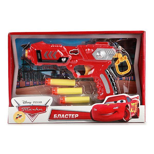 Бластер Disney. Тачки, с мягкими патронами.Игрушечные пистолеты и бластеры<br>Характеристики товара:<br><br>• возраст: от 3 лет;<br>• размер упаковки: 25x20x5 см.;<br>• вес: 230 гр.;<br>• комплект: бластер, мягкие пули.<br>• из чего сделана игрушка (состав): пластик;<br>• упаковка: блистер на картоне.<br><br>Бластер «Disney. Тачки» с мягкими пулями имеет яркий красный цвет. <br><br>Желтые, серебристые и черные детали удачно подчеркивают общий стиль оружия.<br><br>Бластер удобно держать в руках и заряжать.<br><br>С такой игрушкой интересно придумывать сюжеты, в которых нужно будет отстреливаться от противника.<br><br>Бластер «Disney. Тачки» с мягкими пулями можно купить в нашем интернет-магазине.<br>Ширина мм: 250; Глубина мм: 200; Высота мм: 50; Вес г: 230; Цвет: красный; Возраст от месяцев: 36; Возраст до месяцев: 96; Пол: Мужской; Возраст: Детский; SKU: 7754722;