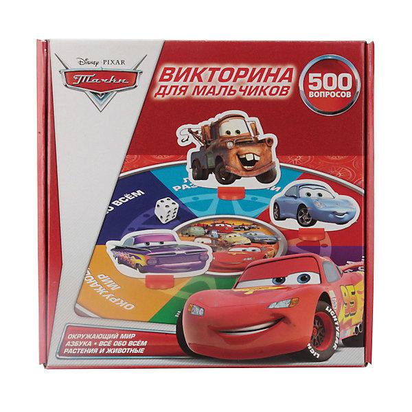 Купить Викторина для мальчиков Тачки Дисней 500 вопросов, Умка, Китай, красный, Унисекс