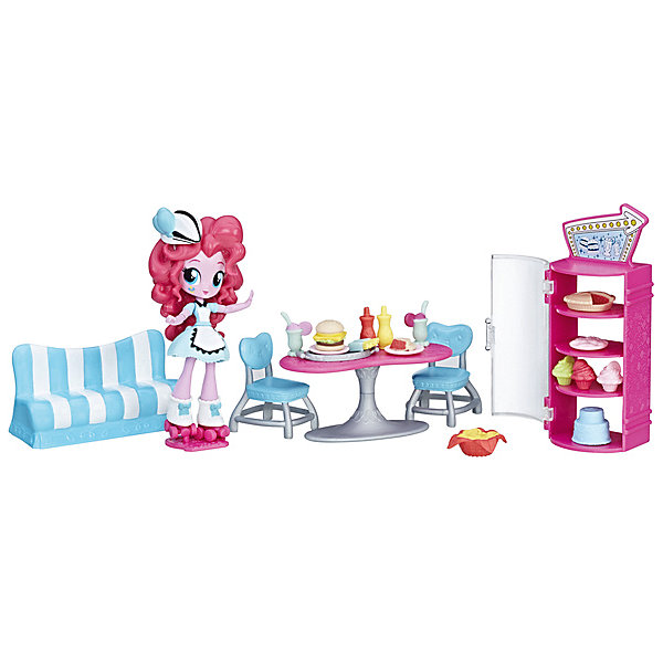 Hasbro Мини-кукла Equestria Girls Пижамная вечеринка Кафе Пинки Пай пинки
