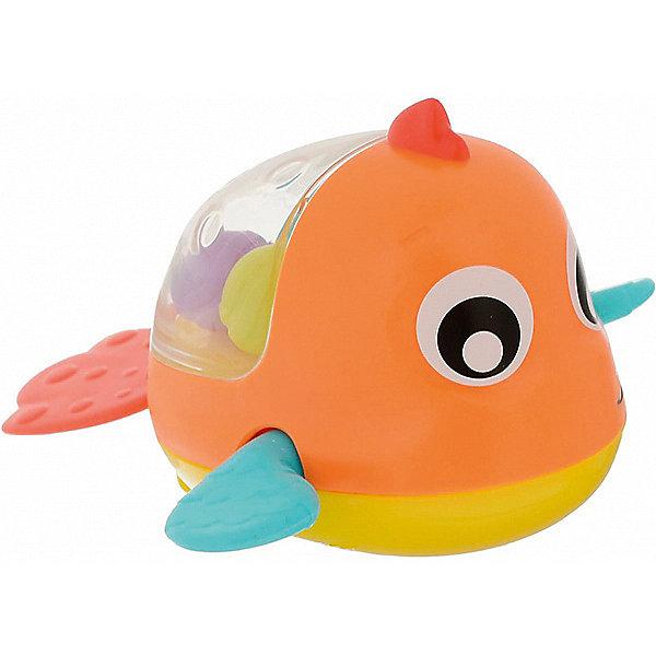 Игрушка для ванны Playgro РыбкаИгрушки для ванной<br>Характеристики:<br><br>• игрушка для ванны;<br>• механический тип активации;<br>• рыбка плывет и забавно перебирает плавниками;<br>• в прозрачном контейнере находятся цветные шарики;<br>• при встряхивании игрушки создается эффект погремушки;<br>• материал: пластик;<br>• размер упаковки: 12х14х17 см;<br>• вес: 100 г.<br><br>Яркая рыбка весело плывет и активно двигает своими плавничками. Чтобы запустить рыбку в плавание, необходимо потянуть за хвостик и отпустить. Ребенок наблюдает за игрушкой, ловит рыбку и запускает снова. В процессе игры развивается координация движений, двигательная активность и фокусировка зрения. <br><br>Игрушку для ванны Playgro «Рыбка» можно купить в нашем интернет-магазине.<br>Ширина мм: 140; Глубина мм: 125; Высота мм: 172; Вес г: 123; Возраст от месяцев: 144; Возраст до месяцев: 2147483647; Пол: Унисекс; Возраст: Детский; SKU: 7763403;