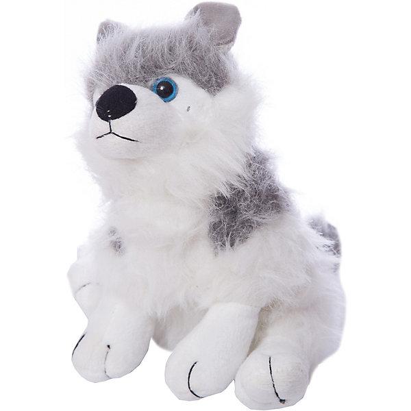 ABtoys Мягкая игрушка Abtoys Собака серая с белым, 18 см abtoys abtoys лук игрушка с прицелом с 3 мя мягкими снарядами