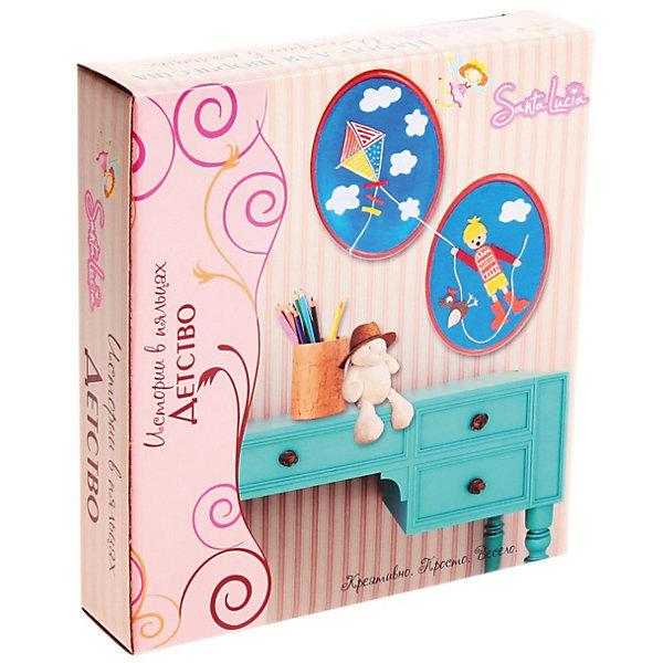 Аппликация из фетра ДетствоАппликации из бумаги<br>Характеристики:<br><br>• тип игрушки: аппликация;<br>• возраст: от 5 лет;<br>• материал: дерево, нитки, клей, бумага, фетр;<br>• комплектация:  пяльце - 2 шт., фетр - 5 шт., клей -1 шт., нитки, трафареты;<br>• вес: 350 гр;<br>• размер: 23х21х5 см;<br>• бренд: Санта-Лючия.<br><br>Аппликация из фетра «Детство» позволит легко и увлекательно провести время с вашим ребенком. Создайте креативную картину из фетра, которая станет прекрасным дополнением детской комнаты! В наборе вы найдете все необходимое: два пяльца, разноцветный фетр, трафареты, клей и наглядную инструкцию. С нашим набором процесс творчества покажется не сложным и очень увлекательным занятием. <br><br>Аппликацию из фетра «Детство» можно купить в нашем интернет-магазине.<br>Ширина мм: 230; Глубина мм: 50; Высота мм: 210; Вес г: 350; Цвет: разноцветный; Возраст от месяцев: 5; Возраст до месяцев: 2147483647; Пол: Унисекс; Возраст: Детский; SKU: 7769347;