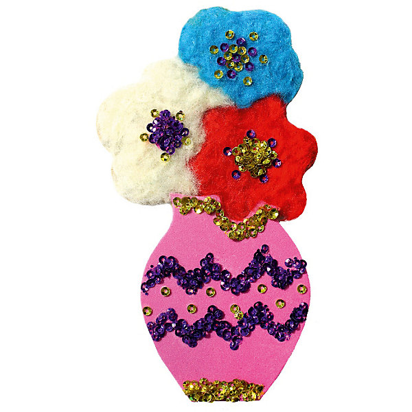 Купить Аппликация на магнитике Цветы, Santa Lucia, Россия, Женский