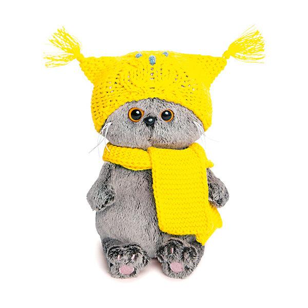 Budi Basa Мягкая игрушка Кот Басик Baby в шапке-сова и шарфе, 20 см