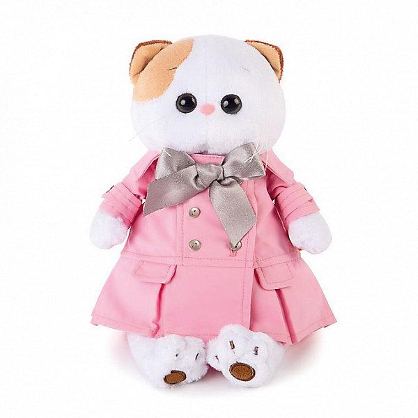 Budi Basa Мягкая игрушка Budi Basa Кошечка Ли-Ли в розовом плаще с серым бантиком, 24 см