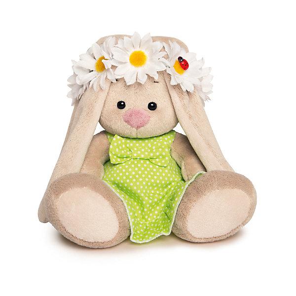 Мягкая игрушка Budi Basa Зайка Ми в зеленом сарафанчике и в венке из ромашек, 15 смМягкие игрушки зайцы и кролики<br>Характеристики товара:<br><br>• возраст: от 3 лет;<br>• материал: текстиль, искусственный мех;<br>• высота игрушки: 15 см;<br>• размер упаковки: 15х14х15 см;<br>• вес упаковки: 270 гр.;<br>• страна производитель: Россия.<br><br>Мягкая игрушка «Зайка Ми  в зеленом сарафанчике и в венке из ромашек» Budi Basa — очаровательный пушистый зайчонок с длинными ушками. На зайке летний сарафан, а на голове венок из цветов. Игрушка выполнена из качественного безопасного материала, настолько приятного и мягкого, что ребенок будет брать с собой зайку в кроватку и спать в обнимку.<br><br>Мягкую игрушку «Зайка Ми  в зеленом сарафанчике и в венке из ромашек» Budi Basa можно приобрести в нашем интернет-магазине.<br>Ширина мм: 135; Глубина мм: 135; Высота мм: 130; Вес г: 250; Цвет: бежевый; Возраст от месяцев: 36; Возраст до месяцев: 168; Пол: Унисекс; Возраст: Детский; SKU: 7771049;