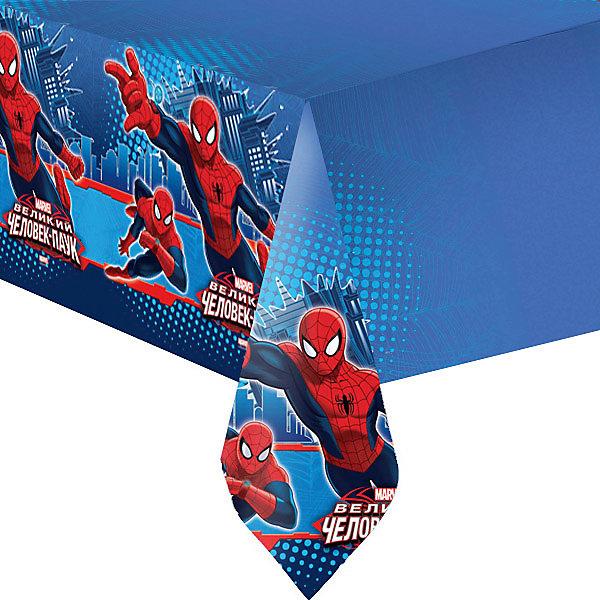 Патибум Скатерть Человек-паук полиэтиленовая, 140х180 см.