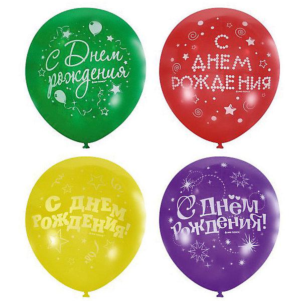 Купить Воздушные шары Latex Occidental С днём рождения. Серпантин 50 шт., пастель + декоратор (шёлк), Мексика, Унисекс