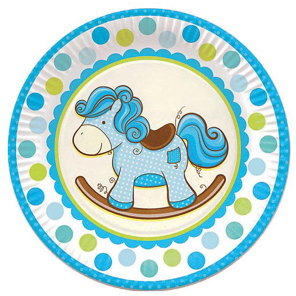 Патибум Тарелки Патибум Лошадка. Малыш 23 см бумажные ламинированные, 6 шт., голубые cd adam