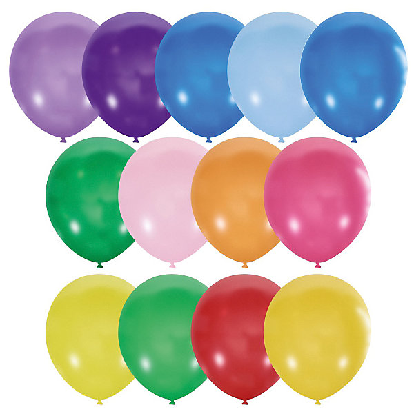 Latex Occidental Воздушные шары 9/23 см, серии Пастель и Декоратор, 100 шт