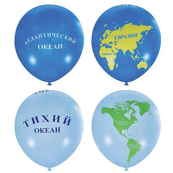 Latex Occidental Воздушные шары Глобус 25 шт., пастель (шёлк)
