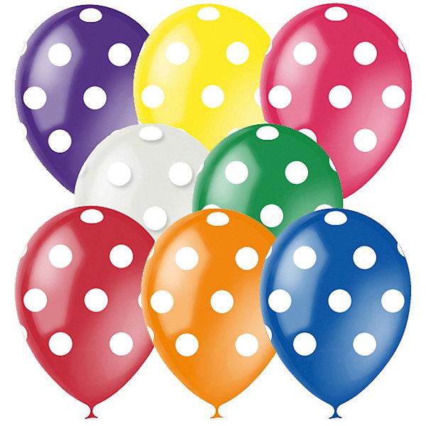"""Latex Occidental Воздушные шары """"Горошек"""" 8 цветов 25 шт, 12""""/30см, серия Декоратор"""