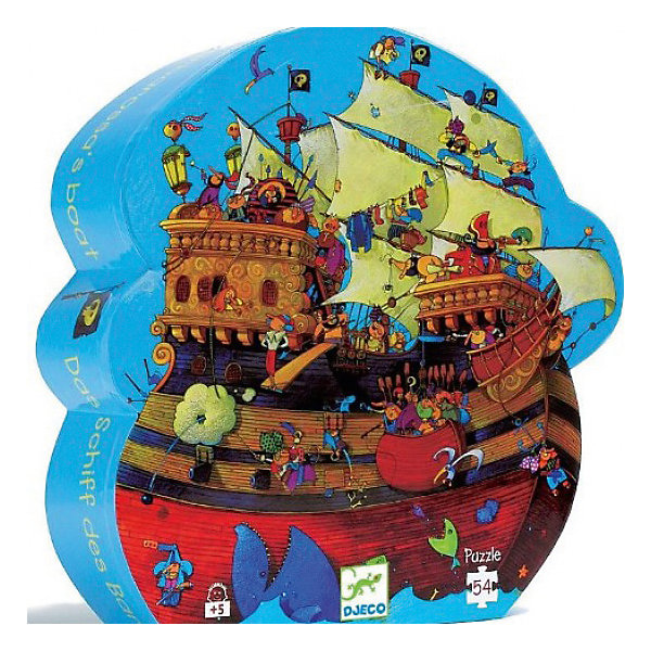 DJECO Пазл Djeco Корабль Барберус, 54 элемента baby toys montessori wooden geometric sorting board blocks kids educational toys building blocks child gift