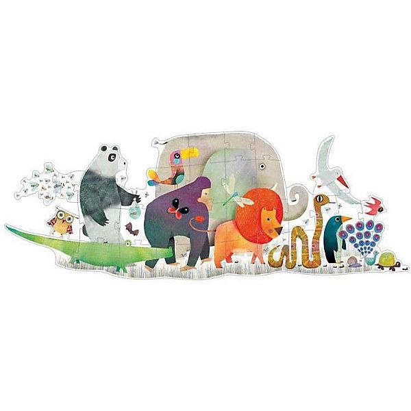 DJECO Напольный пазл Djeco Животные, 36 элементов деревянные игрушки djeco пазл забавные животные
