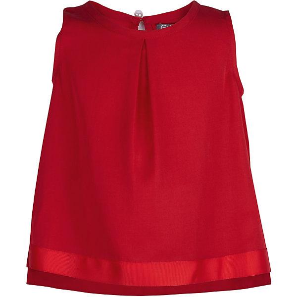 Блузка Gulliver для девочкиОдежда<br>Характеристики товара:<br><br>• цвет: красный;<br>• состав ткани: 100% вискоза;<br>• сезон: лето;<br>• застёжка: пуговка-жемчужина сзади;<br>• блузка без рукавов;<br>• трапециевидный силуэт;<br>• коллекция: Коралловый остров;<br>• страна бренда: Россия.<br><br>Легкие текстильные блузки – незаменимая часть элегантного гардероба юной леди. Они делают образ утонченным и выразительным. Если вы решили купить детскую блузку, обратите внимание на эту модель! Простая элегантная форма, тонкая пластичная ткань, актуальный трапециевидный силуэт - идеальный микс, гарантирующий комфорт, отличное настроение и соответствие модным трендам сезона.<br><br>Блузку Gulliver (Гулливер) можно купить в нашем интернет-магазине.<br>Ширина мм: 186; Глубина мм: 87; Высота мм: 198; Вес г: 197; Цвет: красный; Возраст от месяцев: 24; Возраст до месяцев: 36; Пол: Женский; Возраст: Детский; Размер: 98,116,110,104; SKU: 7788971;