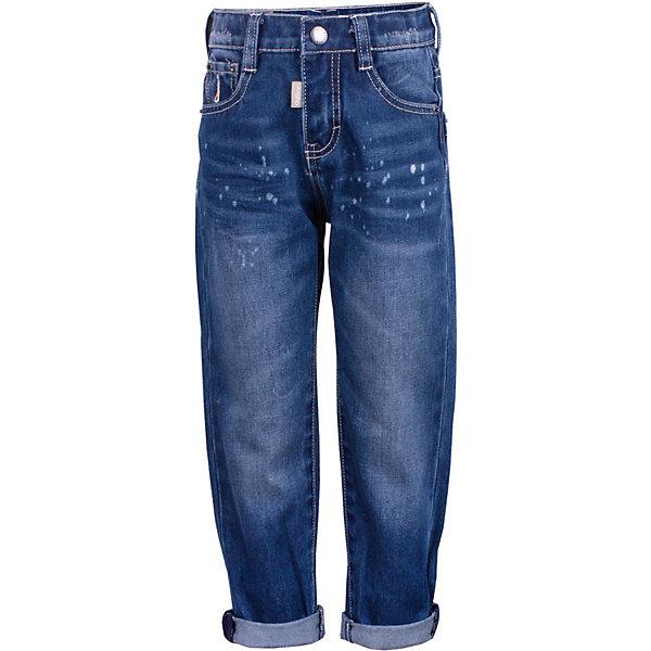 Брюки Gulliver для мальчикаДжинсы<br>Характеристики товара:<br><br>• цвет: синий;<br>• состав ткани: 100% хлопок;<br>• сезон: демисезон;<br>• застёжка: ширинка на молнии и пуговица;<br>• джинсы с эффектом потёртостей;<br>• наличие шлёвок для ремня;<br>• джинсы с отворотами;<br>• классическая 5-ти карманная модель;<br>• коллекция: Среда обитания;<br>• страна бренда: Россия.<br><br>Модные джинсы для мальчика с актуальными потертостями и варкой сделают образ юного джентльмена дерзким и современным! Плотные синие джинсы, ставшие классикой повседневного стиля - идеальный вариант для весенней погоды. Удобные и практичные, джинсы из хлопка гарантируют комфорт и свободу движений.<br><br>Джинсы Gulliver (Гулливер) можно купить в нашем интернет-магазине.<br>Ширина мм: 215; Глубина мм: 88; Высота мм: 191; Вес г: 336; Цвет: синий; Возраст от месяцев: 24; Возраст до месяцев: 36; Пол: Мужской; Возраст: Детский; Размер: 98,116,110,104; SKU: 7789244;