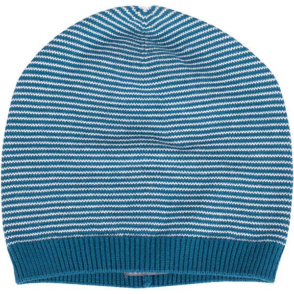 Шапка Gulliver для мальчикаГоловные уборы<br>Характеристики товара:<br><br>• цвет: синий;<br>• состав ткани: 100% хлопок;<br>• без подкладки;<br>• сезон: демисезон;<br>• вязаная шапка;<br>• шапка в полоску;<br>• коллекция: Среда обитания;<br>• страна бренда: Россия.<br><br>Стильная вязаная шапка дополнит повседневный образ ребенка. Мягкая, легкая, комфортная, шапка в мелкую полоску будет незаменима весной, но может пригодиться и холодным летом. Она отлично разместится в кармане ветровки или жилетки, чтобы в любой момент защитить мальчика от непогоды и ветра.<br><br>Шапку Gulliver (Гулливер) можно купить в нашем интернет-магазине.<br>Ширина мм: 89; Глубина мм: 117; Высота мм: 44; Вес г: 155; Цвет: белый; Возраст от месяцев: 24; Возраст до месяцев: 36; Пол: Мужской; Возраст: Детский; Размер: 50,52; SKU: 7789251;
