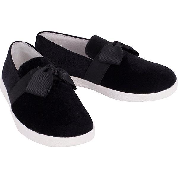 Кеды Gulliver для девочкиСлипоны<br>Кеды Gulliver для девочки<br>Эта удивительная модель объединила в себе и кеды, и слипоны, и туфли. Черный бархатный верх, мягкий бант, белая резиновая подошва, - этот стилевой микс делает эту модель непохожей на другую обувь в спортивном стиле. Если вы ищите ребенку модную обувь без шнурков и вам нравятся кеды, кроссовки, слипоны, вам стоит купить детские кеды из коллекции Тропический лес и они вас не разочаруют! Очень удобные, комфортные, мягкие, черные кеды прекрасно впишутся в модный весенний гардероб девочки, сделав его интересным и оригинальным.<br>Состав:<br>Верх: бархат; подкладка, стелька: кожа; подошва: резина<br>Ширина мм: 250; Глубина мм: 150; Высота мм: 150; Вес г: 250; Цвет: черный; Возраст от месяцев: 96; Возраст до месяцев: 108; Пол: Женский; Возраст: Детский; Размер: 32,36,35,30,34,33,31; SKU: 7789489;