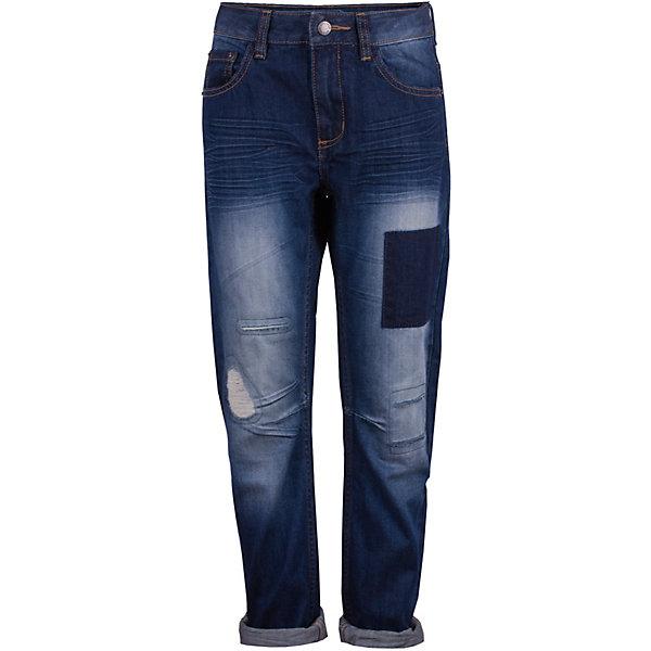 Брюки Gulliver для мальчикаДжинсы<br>Характеристики товара:<br><br>• цвет: синий;<br>• состав ткани: 100% хлопок;<br>• сезон: демисезон;<br>• застёжка: ширинка на молнии и пуговица;<br>• наличие шлёвок для ремня;<br>• джинсы с эффектом потёртостей;<br>• джинсы с отворотами;<br>• классическая 5-ти карманная модель;<br>• коллекция: Команда 1997;<br>• страна бренда: Россия.<br><br>Модные джинсы для мальчика с актуальными потертостями, варкой и заплатками сделают образ юного джентльмена дерзким и современным! Плотные синие джинсы, ставшие классикой повседневного стиля, - идеальный вариант для весенней погоды. Удобные и практичные, джинсы из хлопка гарантируют комфорт и свободу движений.<br><br>Джинсы Gulliver (Гулливер) можно купить в нашем интернет-магазине.<br>Ширина мм: 215; Глубина мм: 88; Высота мм: 191; Вес г: 336; Цвет: синий; Возраст от месяцев: 72; Возраст до месяцев: 84; Пол: Мужской; Возраст: Детский; Размер: 122,140,134,128; SKU: 7789583;