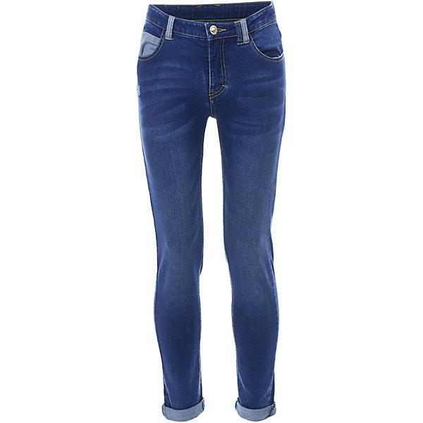 Брюки Gulliver для девочкиДжинсы<br>Характеристики товара:<br><br>• цвет: синий;<br>• состав ткани: 99% хлопок, 1% эластан;<br>• сезон: демисезон;<br>• застёжка: ширинка на молнии и пуговица;<br>• наличие шлёвок для ремня;<br>• джинсы с эффектом потёртостей;<br>• джинсы с отворотами;<br>• классическая 5-ти карманная модель;<br>• коллекция: Ягодная вечеринка;<br>• страна бренда: Россия.<br><br>Синие джинсы для девочки - изделие из разряда must have! И не только потому, что синие джинсы с потертостями, заминами и варкой по-прежнему очевидный тренд. С любым верхом из коллекции Ягодная вечеринка они составят красивый благородный комплект. Джинсы выполнены из хлопка с эластаном, а значит они комфортно прилегают к телу, подчеркивая грациозность своей обладательницы. <br><br>Джинсы Gulliver (Гулливер) можно купить в нашем интернет-магазине.<br>Ширина мм: 215; Глубина мм: 88; Высота мм: 191; Вес г: 336; Цвет: синий; Возраст от месяцев: 120; Возраст до месяцев: 132; Пол: Женский; Возраст: Детский; Размер: 146,164,158,152; SKU: 7790026;