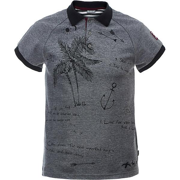Поло Gulliver для мальчикаФутболки, поло и топы<br>Характеристики товара:<br><br>• цвет: серый;<br>• состав ткани: 95% хлопок, 5% эластан;<br>• сезон: лето;<br>• застёжка: пуговицы на горловине;<br>• воротник и манжеты контрастного цвета;<br>• футболка-поло с принтом;<br>• коллекция: Пальма-де-Майорка;<br>• страна бренда: Россия.<br><br>Поло всегда наряднее, элегантнее, свежее. При этом, поло так же комфортно, т.к. выполнено из мягкого трикотажного полотна с эластаном. Оно не стесняет движений и позволяет ребенку быть самим собой. С джинсами, брюками, шортами, поло с коротким рукавом составит достойный look, который будет к месту в любой ситуации. Контрастный воротник, отделка, крупный интересный декор, выполненный в технике принта делают поло ярким динамичным элементом летнего образа.<br><br>Футболку-поло Gulliver (Гулливер) можно купить в нашем интернет-магазине.<br>Ширина мм: 199; Глубина мм: 10; Высота мм: 161; Вес г: 151; Цвет: серый; Возраст от месяцев: 120; Возраст до месяцев: 132; Пол: Мужской; Возраст: Детский; Размер: 146,164,158,152; SKU: 7790195;
