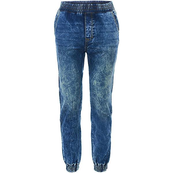 Джинсы GulliverДжинсы<br>Характеристики товара:<br><br>• цвет: синий;<br>• состав ткани: 100% хлопок;<br>• сезон: демисезон<br>• застёжка: джинсы на резинке;<br>• манжеты брючин на мягких эластичных резинках;<br>• два боковых и два задних кармана;<br>• коллекция: Пальма-де-Майорка;<br>• страна бренда: Россия.<br><br>Тонкие джинсы для мальчика - вещь совершенно необходимая! Синие вареные джинсы с манжетами будут лучшим подарком для мальчика-подростка, идущего в ногу со временем. Они сделают образ ребенка динамичным, стильным, современным, обеспечив 100% комфорт.<br><br>Джинсы Gulliver (Гулливер) можно купить в нашем интернет-магазине.