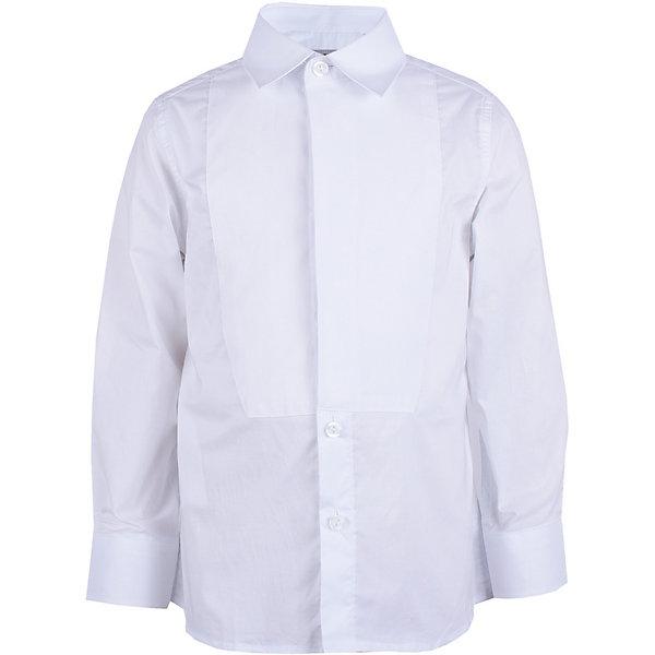 Сорочка Gulliver для мальчикаБлузки и рубашки<br>Характеристики товара:<br><br>• цвет: белый;<br>• состав ткани: 100% хлопок;<br>• сезон: круглый год;<br>• застёжка: пуговицы;<br>• рубашка с длинным рукавом;<br>• манжеты рукавов на пуговицах;<br>• классическая белая рубашка;<br>• коллекция: Ницца;<br>• страна бренда: Россия.<br><br>В преддверии весенних праздников, выпускных мероприятий, дней рождения или выхода в свет по другому приятному поводу, купить сорочку для мальчика, нарядную и белую, становится для мамы острой необходимостью! Классическая сорочка с элегантными защипами – важный атрибут элегантного гардероба. Современный крой обеспечивает прекрасную посадку изделия на фигуре. 100% хлопок в составе ткани создает исключительные гигиенические характеристики, что сделает длительное пребывание в сорочке очень комфортным.<br><br>Рубашку Gulliver (Гулливер) можно купить в нашем интернет-магазине.<br>Ширина мм: 174; Глубина мм: 10; Высота мм: 169; Вес г: 157; Цвет: белый; Возраст от месяцев: 24; Возраст до месяцев: 36; Пол: Мужской; Возраст: Детский; Размер: 98,116,110,104; SKU: 7790377;