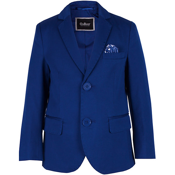 Пиджак Gulliver для мальчикаПиджаки и костюмы<br>Характеристики товара:<br><br>• цвет: синий;<br>• состав ткани: 61% хлопок, 39% полиэстер;<br>• подкладка: 100% хлопок;<br>• сезон: круглый год;<br>• застёжка: пуговицы;<br>• манжеты рукавов на пуговицах;<br>• пиджак на хлопковой подкладке;<br>• нарядный пиджак;<br>• три кармана;<br>• коллекция: Ницца;<br>• страна бренда: Россия.<br><br>В преддверии весенних праздников, выпускных мероприятий, дней рождения или выхода в свет по другому приятному поводу, купить детский пиджак для мальчика становится для мамы острой необходимостью. Синий пиджак выполнен в лучших традициях Gulliver! Прекрасная форма, идеальная посадка изделия на фигуру, взрослая внутренняя обработка, не допускающая компромиссов, - стильный синий пиджак будет выглядеть элегантно, подчеркнув безупречный и индивидуальность ребенка!<br><br>Пиджак Gulliver (Гулливер) можно купить в нашем интернет-магазине.<br>Ширина мм: 356; Глубина мм: 10; Высота мм: 245; Вес г: 519; Цвет: синий; Возраст от месяцев: 60; Возраст до месяцев: 72; Пол: Мужской; Возраст: Детский; Размер: 116,98,110,104; SKU: 7790387;