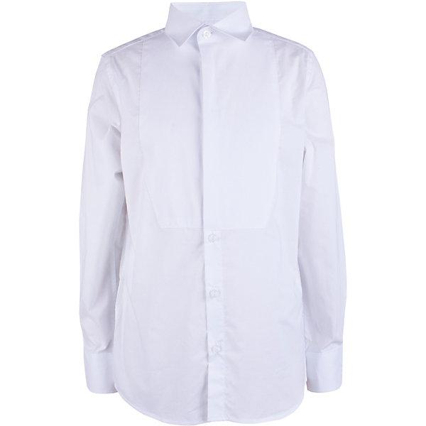 Сорочка Gulliver для мальчикаБлузки и рубашки<br>Характеристики товара:<br><br>• цвет: белый;<br>• состав ткани: 100% хлопок;<br>• сезон: круглый год;<br>• застёжка: пуговицы;<br>• рубашка с длинным рукавом;<br>• манжеты рукавов на пуговицах;<br>• классическая белая рубашка;<br>• коллекция: Ницца;<br>• страна бренда: Россия.<br><br>В преддверии весенних праздников, выпускных мероприятий, дней рождения или выхода в свет по другому приятному поводу, купить сорочку для мальчика, нарядную и белую, становится для мамы острой необходимостью! Классическая сорочка с элегантными защипами – важный атрибут элегантного гардероба. Современный крой обеспечивает прекрасную посадку изделия на фигуре. 100% хлопок в составе ткани создает исключительные гигиенические характеристики, что сделает длительное пребывание в сорочке очень комфортным.<br><br>Рубашку Gulliver (Гулливер) можно купить в нашем интернет-магазине.<br>Ширина мм: 174; Глубина мм: 10; Высота мм: 169; Вес г: 157; Цвет: белый; Возраст от месяцев: 120; Возраст до месяцев: 132; Пол: Мужской; Возраст: Детский; Размер: 146,164,158,152; SKU: 7790397;