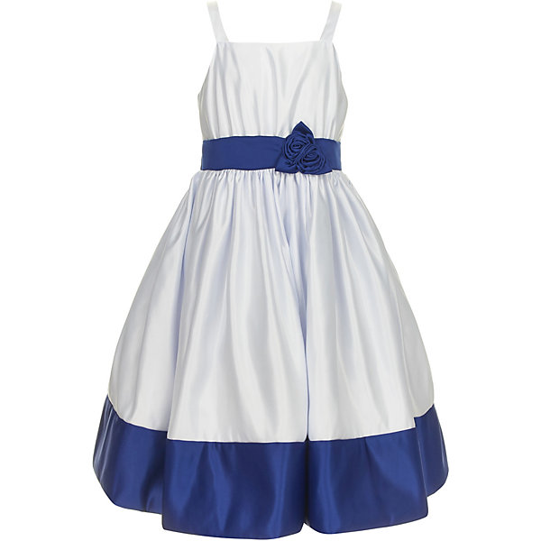 Платье Gulliver для девочкиНарядные платья<br>Характеристики товара:<br><br>• цвет: белый/синий;<br>• состав ткани: 100% полиэстер;<br>• подкладка: 100% хлопок;<br>• застёжка: молния на спинке;<br>• платье на тонких бретельках;<br>• длина: миди;<br>• атласная лента-бант;<br>• нарядное платье;<br>• пышная юбка;<br>• лента и нижний кант контрастного синего цвета;<br>• коллекция: Ницца;<br>• страна бренда: Россия.<br><br>Роскошное атласное платье из коллекции Ницца - образец благородства и изящества. Белый приталенный лиф и юбка, оформленные контрастным поясом и широким кантом по низу изделия, создают головокружительный эффект модели для настоящей принцессы. <br><br>Платье Gulliver (Гулливер) можно купить в нашем интернет-магазине.