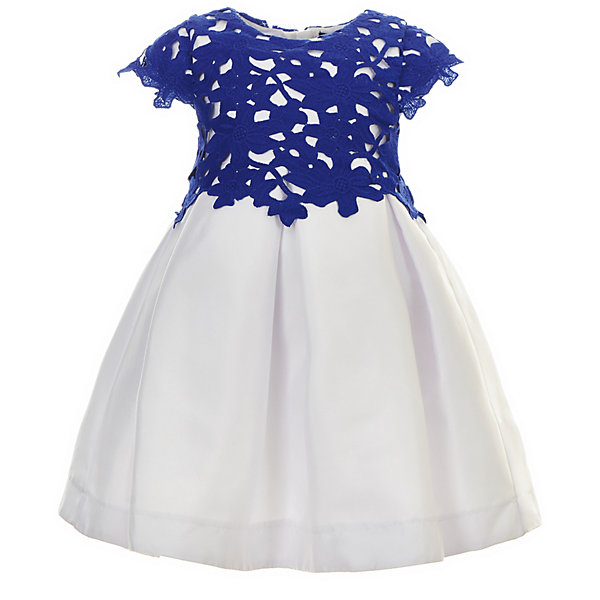 Платье Gulliver для девочкиНарядные платья<br>Характеристики товара:<br><br>• цвет: синий/белый;<br>• состав ткани: 55% полиэстер, 45% хлопок;<br>• подкладка: 100% хлопок;<br>• застёжка: молния на спинке;<br>• платье с коротким рукавом;<br>• длина: миди;<br>• кружевной верх;<br>• нарядное платье;<br>• пышная юбка;<br>• коллекция: Ницца;<br>• страна бренда: Россия.<br><br>Потрясающее платье из коллекции Ницца - образец благородства и изящества. Синий кружевной лиф и контрастная белая юбка создают головокружительный эффект модели для настоящей принцессы.<br><br>Платье Gulliver (Гулливер) можно купить в нашем интернет-магазине.<br>Ширина мм: 236; Глубина мм: 16; Высота мм: 184; Вес г: 177; Цвет: белый; Возраст от месяцев: 24; Возраст до месяцев: 36; Пол: Женский; Возраст: Детский; Размер: 98,116,110,104; SKU: 7790443;