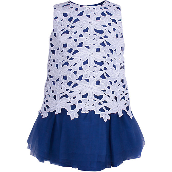Платье Gulliver для девочкиНарядные платья<br>Характеристики товара:<br><br>• цвет: белый/синий;<br>• состав ткани: 100% полиэстер;<br>• подкладка: 100% хлопок;<br>• застёжка: молния на спинке;<br>• платье с коротким рукавом;<br>• длина: миди;<br>• кружевной верх;<br>• нарядное платье;<br>• пышная юбка;<br>• коллекция: Ницца;<br>• страна бренда: Россия.<br><br>Потрясающее платье из коллекции Ницца - образец благородства и изящества. Белый кружевной лиф и контрастная пышная юбка создают головокружительный эффект модели для настоящей принцессы.<br><br>Платье Gulliver (Гулливер) можно купить в нашем интернет-магазине.<br>Ширина мм: 236; Глубина мм: 16; Высота мм: 184; Вес г: 177; Цвет: белый; Возраст от месяцев: 24; Возраст до месяцев: 36; Пол: Женский; Возраст: Детский; Размер: 98,116,110,104; SKU: 7790453;