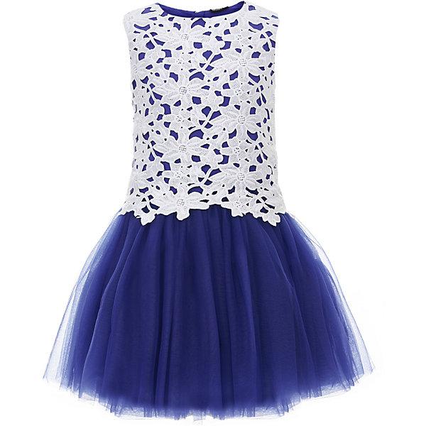 Платье Gulliver для девочкиНарядные платья<br>Характеристики товара:<br><br>• цвет: белый/синий;<br>• состав ткани: 100% полиэстер;<br>• подкладка: 100% хлопок;<br>• застёжка: молния на спинке;<br>• платье без рукавов;<br>• длина: миди;<br>• кружевной верх;<br>• нарядное платье;<br>• пышная юбка;<br>• коллекция: Ницца;<br>• страна бренда: Россия.<br><br>Потрясающее платье из коллекции Ницца - образец благородства и изящества. Белый кружевной лиф и контрастная пышная юбка создают головокружительный эффект модели для настоящей принцессы. В гардеробе ребенка не должно быть много нарядных платьев. <br><br>Платье Gulliver (Гулливер) можно купить в нашем интернет-магазине.<br>Ширина мм: 236; Глубина мм: 16; Высота мм: 184; Вес г: 177; Цвет: белый; Возраст от месяцев: 120; Возраст до месяцев: 132; Пол: Женский; Возраст: Детский; Размер: 146,164,158,152; SKU: 7790476;