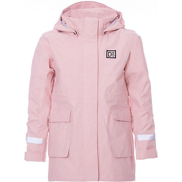 Куртка CORA DIDRIKSONS1913 для девочкиВерхняя одежда<br>Характеристики товара:<br><br>• цвет: розовый;<br>• внешняя ткань: 71% Хлопок, 29% Полиамид, Пропитка - DWR finish; <br>• подкладка: 100% полиэстер трикотаж;<br>• водонепроницаемость: 8000 мм.<br>• воздухонепроницаемость: 6000 г/м2/24ч <br>• температурный режим: от +10 до +20 С;<br>• сезон: демисезон;<br>• модель: ветровка;<br>• передняя молния скрыта планкой;<br>• регулируемый подол;<br>• защита подбородка;<br>• капюшон отстёгивается;<br>• скрытый шов (увеличивается длина рукава);<br>• светоотражатели;<br>• страна бренда: Швеция.<br><br>Непродуваемая и непромокаемая куртка-ветровка для девочки «CORA» шведской марки Didriksons 1913 рассчитана на температурный режим от +10 градусов. Мембранная ткань  с добавлением мягкого хлопка позволят комфортно себя чувствовать при ветреной и дождливой погоде. Модель выполнена в нежном светло-розовом цвете, прямого кроя с удобными глубокими карманами и светоотражающими элементами. <br><br>Все швы проклеены, внешняя поверхность ткани обработана дополнительной водоотталкивающей пропиткой, что обеспечивает максимальную защиту от внешней влаги. <br><br>DIDRIKSONS 1913 (Швеция) - ведущий европейский производитель функциональной одежды для города, туризма, активного отдыха на природе и спорта. Непромокаемая одежда Didriksons очень проста в уходе. Загрязнения легко удаляются влажной губкой или под струей воды. <br><br>Куртку-ветровку для девочки «CORA» от бренда DIDRIKSONS1913 (Дидриксон1913) можно купить в нашем интернет-магазине.<br>Ширина мм: 356; Глубина мм: 10; Высота мм: 245; Вес г: 519; Цвет: розовый; Возраст от месяцев: 18; Возраст до месяцев: 24; Пол: Женский; Возраст: Детский; Размер: 90,140,130,120,110,100; SKU: 7797547;