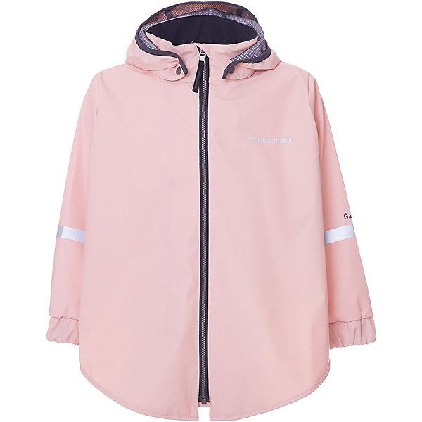Куртка EDLYN DIDRIKSONS1913 для девочкиВерхняя одежда<br>Характеристики товара:<br><br>• цвет: розовый;<br>• внешняя ткань: Galon 100% полиуретан; <br>• подкладка: трикотаж 100% полиэстер;<br>• водонепроницаемость: 8000 мм.<br>• воздухонепроницаемость: 6000 г/м2/24ч <br>• температурный режим: от +10 до +20 С;<br>• сезон: демисезон;<br>• модель: ветровка;<br>• регулируемый подол;<br>• защита подбородка;<br>• капюшон отстёгивается;<br>• скрытый шов (увеличивается длина рукава);<br>• светоотражатели;<br>• страна бренда: Швеция.<br><br>Куртка для девочки «EDLYN» шведской марки Didriksons 1913 рассчитана на температурный режим от +10 градусов. Выполнена из непромокаемого и не продуваемого запатентованного материала Galon (полиуретан), который тянется во всех направлениях и не сковывает движения ребенка.Модель выполнена в нежном светло-розовом цвете, свободного кроя, дополнена светоотражающими элементами. <br><br>Все швы проклеены, внешняя поверхность ткани обработана дополнительной водоотталкивающей пропиткой, что обеспечивает максимальную защиту от внешней влаги. Можно носить как отдельную вещь или использовать курточку в качестве поддёвы.<br><br>DIDRIKSONS 1913 (Швеция) - ведущий европейский производитель функциональной одежды для города, туризма, активного отдыха на природе и спорта. Непромокаемая одежда Didriksons очень проста в уходе. Загрязнения легко удаляются влажной губкой или под струей воды. <br><br>Куртку для девочки «EDLYN» от бренда DIDRIKSONS1913 (Дидриксон1913) можно купить в нашем интернет-магазине.<br>Ширина мм: 356; Глубина мм: 10; Высота мм: 245; Вес г: 519; Цвет: розовый; Возраст от месяцев: 36; Возраст до месяцев: 48; Пол: Женский; Возраст: Детский; Размер: 100,140,130,120,110; SKU: 7797554;