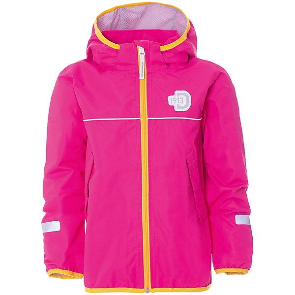 Куртка VISKAN DIDRIKSONS1913Верхняя одежда<br>Характеристики товара:<br><br>• цвет: розовый;<br>• внешняя ткань: 100% Полиэстер. Пропитка - DWR finish (без фторуглерода); <br>• подкладка: 100% полиэстер трикотаж;<br>• водонепроницаемость: 5000 мм.<br>• воздухонепроницаемость: 6000 г/м2/24ч <br>• температурный режим: от +10 до +20 С;<br>• сезон: демисезон;<br>• модель: спортивный стиль;<br>• увеличивающийся размер;<br>• капюшон снимается;<br>• 4-х-сторонний стретч, эластичный трикотаж;<br>• светоотражающие элементы;<br>• защита подбородка от защемления;<br>• эластичные манжеты;<br>• страна бренда: Швеция.<br><br>Детская куртка «VISKAN» шведской марки Didriksons 1913 рассчитана на температурный режим от +10 градусов. Мембранная ткань с показателем водонепроницаемости 10000 мм и сетчатая подкладка позволят комфортно себя чувствовать при ветреной и дождливой погоде. Модель выполнена в спортивном стиле, прямого кроя с удобными глубокими карманами на молнии.<br><br>Все швы проклеены, внешняя поверхность ткани обработана дополнительной водоотталкивающей пропиткой, что обеспечивает максимальную защиту от внешней влаги. Фиксированный капюшон убирается в ворот под молнию. Концы рукавов - на резинке.  Внутренний карман с отверстием для МР3. <br><br>DIDRIKSONS 1913 (Швеция) - ведущий европейский производитель функциональной одежды для города, туризма, активного отдыха на природе и спорта. Непромокаемая одежда Didriksons очень проста в уходе. Загрязнения легко удаляются влажной губкой или под струей воды. <br><br>Детскую куртку «VISKAN» от бренда DIDRIKSONS1913 (Дидриксон1913) можно купить в нашем интернет-магазине.<br>Ширина мм: 356; Глубина мм: 10; Высота мм: 245; Вес г: 519; Цвет: фуксия; Возраст от месяцев: 18; Возраст до месяцев: 24; Пол: Унисекс; Возраст: Детский; Размер: 90,140,130,120,110,100; SKU: 7797641;