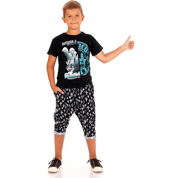Апрель Футболка Апрель для мальчика лонгслив для мальчика апрель день знаний 499522 черный рост 128 размер 64